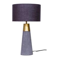 Savoy Table Lamp, Light Gray