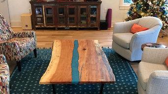 Live edge river table