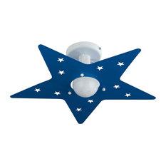 Stella Flush Ceiling Light, Blue