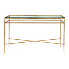 safavieh safavieh baumgarten console table gold console tables