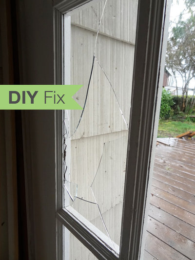 Diy Fix How To Repair A Broken Glass Door Pane