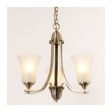 Drummond 3 Light Antique Brass Chandelier