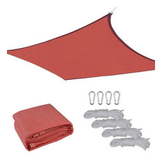 12'x12' Uv Proof Square Sun Shade Sail Cover, Red