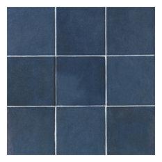 "Cloe 5""x5"" Artisan Ceramic Subway Tile, Blue"