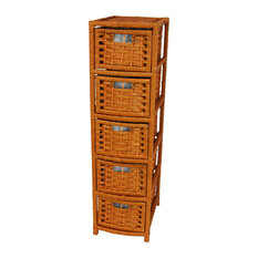 40-inch Natural Fiber Occasional Chest Of Drawers Honey