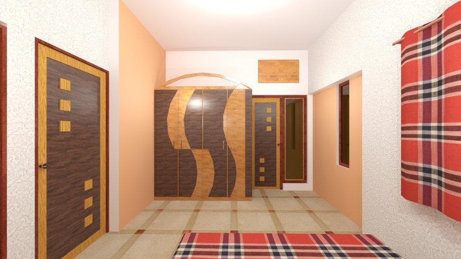 Masterbed room 3D Render View 2