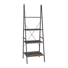 Niche Soho 72-inch Ladder Bookcase-Urban Walnut