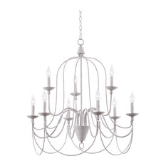 """Kenroy Home 93069 Pannier 9 Light 32"""" Wide Taper Candle Chandelier"""