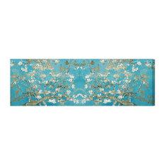 "The Oliver Gal Artist Co. - ""Van Gogh in Blue Blossoms"" Canvas Art Print, 51x153 cm - Fine Art Prints"