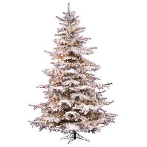 Vickerman 10' Flocked Sierra Fir Artificial Christmas Tree Unlit