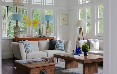 Room Tour: Nature and a Painting Inspired This Fresh Living Room
