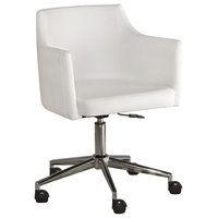 Baraga Home Office Swivel Desk Chair, White