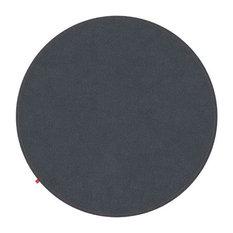 Emilia Dark Grey Rug, Dark Orange Stitching, 120 cm
