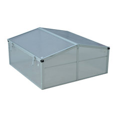 Outsunny 39 Aluminum Vented Cold Frame Greenhouse
