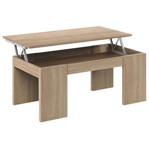 Kendra Coffee Table With Lift Top, Canadian Oak