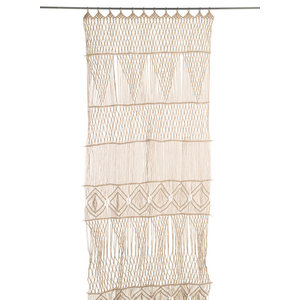 Macramé Door Curtain, Beige