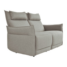 Maja Power Double Reclining Love Seat With Power Headrest And Arm Beige