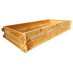 """Timberlane Gardens - Raised Bed Kit Double Deep, Two 3x6, Western Red Cedar - Raised garden bed kit dimensions: 3 feet wide x 6 feet long (6 inches deep) and 3 feet wide x 6 feet long (6 inches deep). Depth is 12 inches when stacked. 5/8"""" thick."""