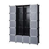 Wardrobe Cube Organiser, Plastic With Hanging Rails, Simple Modern Design