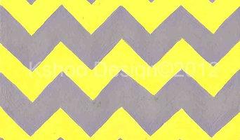 Yellow and Grey Chevron Art Print