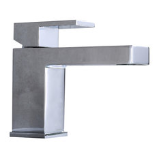 Luxier Single-Handle Modern Bathroom Sink Faucet, Chrome