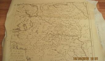 винтажная копия старой карты