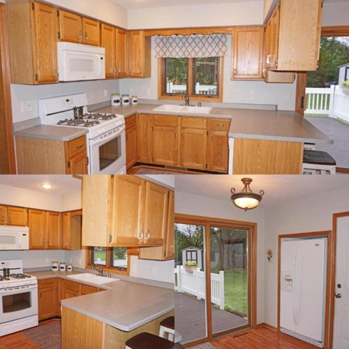 Kitchen Oak Cabinets Wall Color: Sage Green Walls + Oak Cabinets = ?? Backsplash