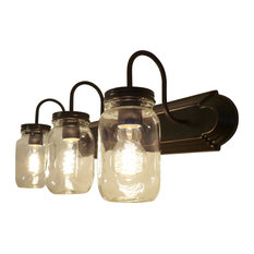 lamps international clear quart mason jar vanity 3 light bathroom vanity lighting bathroom vanity lighting bathroom