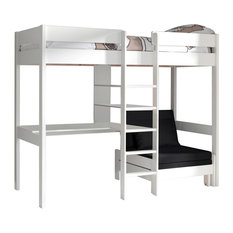 High Sleeper With Sofa Bed, White