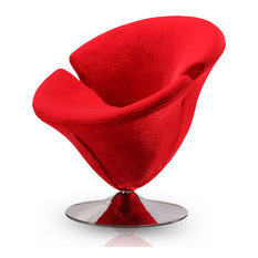 Tulip Leisure Chair, Red