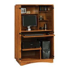 sauder sauder harvest mill computer armoire abbey oak desks and hutches asian office furniture