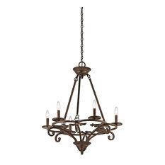 Kichler Caldella Chandelier 6-Light, Aged Bronze