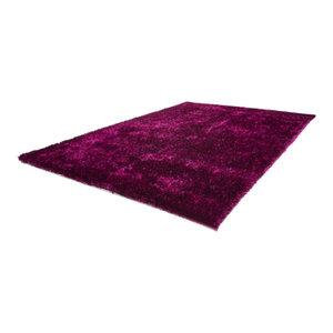 Diamond Shag Rug, Violet and Black, 160x230 cm