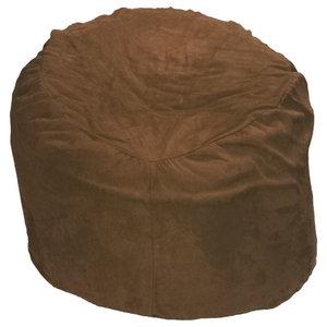 Plush Microfiber Bean Bag, Chocolate, 5'