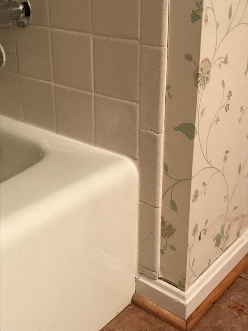 How To Finish Tile Edge At Tub Shower, How To Cut Bathroom Tile