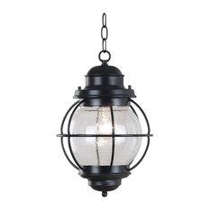 Hatteras Hanging Lantern, Black Finish