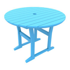 """Cafe Fusion 40"""" Round Dining Table, Pool"""