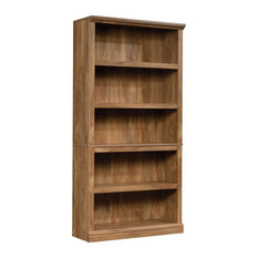 Sauder Misc Storage 5-Shelf Tall Wood Bookcase in Sindoori Mango