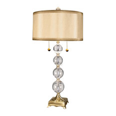 50 most popular crystal table lamps for 2018 houzz dale tiffany aurora crystal lamp table lamps aloadofball Gallery