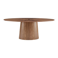 Deodat 79-inch Oval Dining Table, Walnut