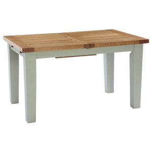 Natural Wood Extendable Dining Table, French Grey, Small