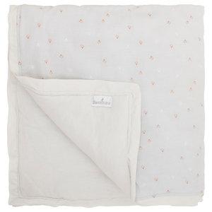 Chick Print Baby Blanket, Brown, Large