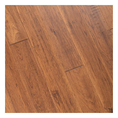 Hickory Hand Scraped Prefinished Engineered Wood Flooring, Autumn, 1 Box