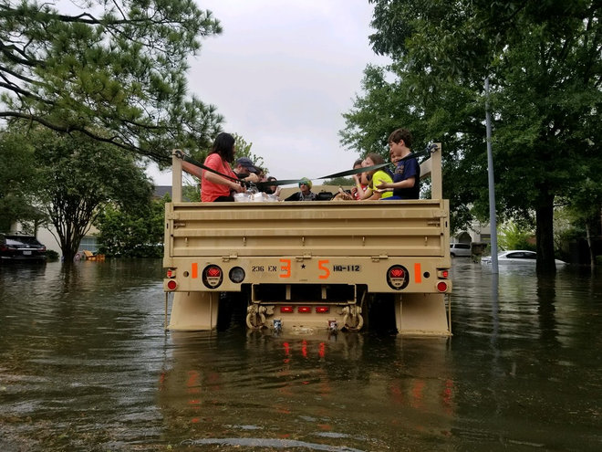 Hurricane Harvey hits Houston