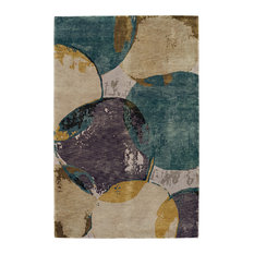 Dew Specter-Mirage Rectangular Hand Knotted Rug, 5'x8'