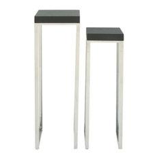 Ziegler Pedestal Tables, Set of 2