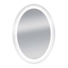 """Dyconn Faucet Royal Oval Wall Mounted Backlit Vanity Bathroom LED Mirror, 24""""x34"""