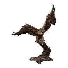 """Stalking Eagle 44"""" Bronze Sculpture"""