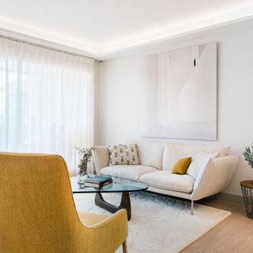 """""""jaune douceur"""" restructuration et décoration d'un appartement"""