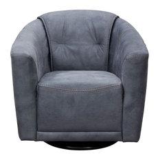 Diamond Sofa Murphy Swivel Accent Chair, Light Gray Fabric